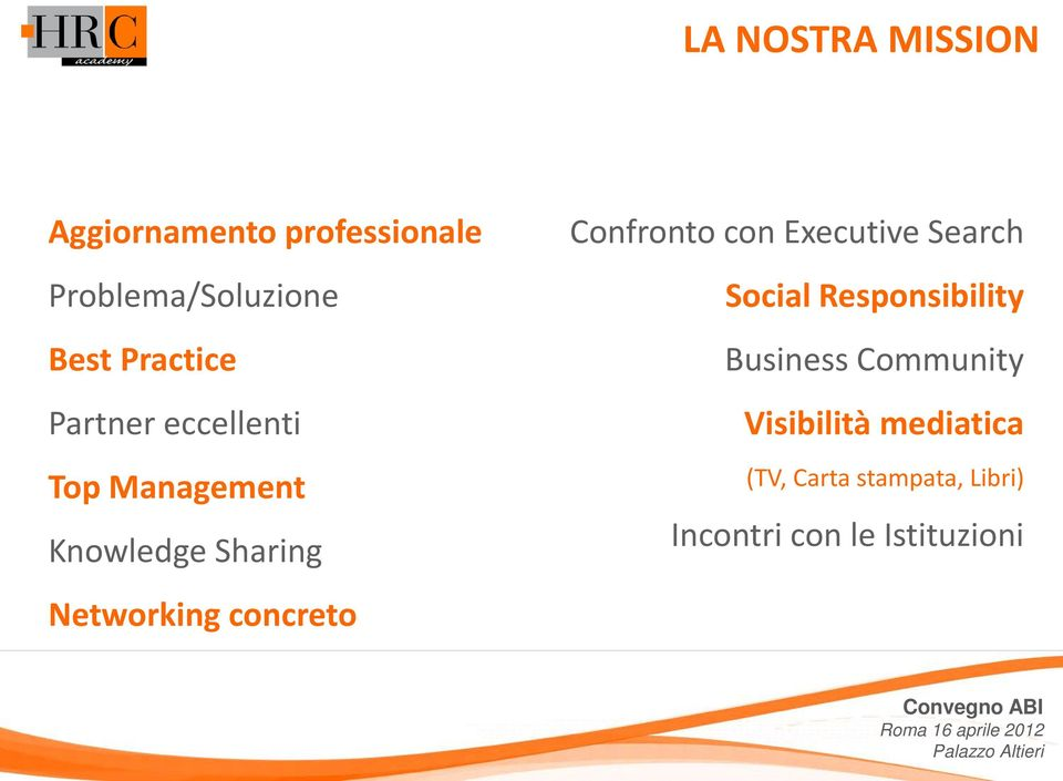 concreto Confronto con Executive Search Social Responsibility Business