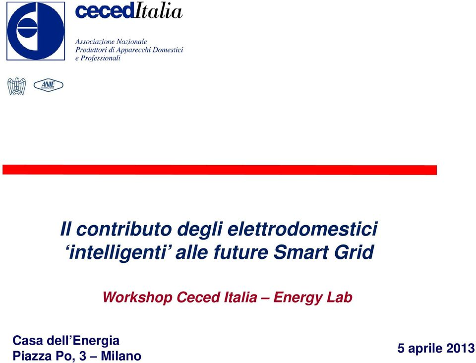 Workshop Ceced Italia Energy Lab Casa