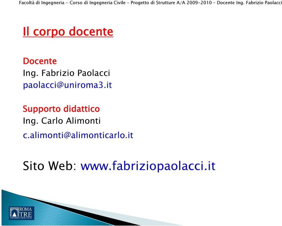 it Supporto didattico Ing.