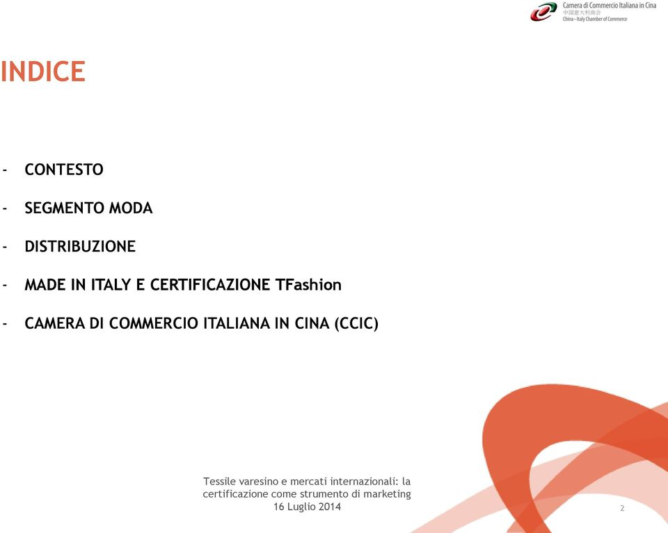 CERTIFICAZIONE TFashion CAMERA