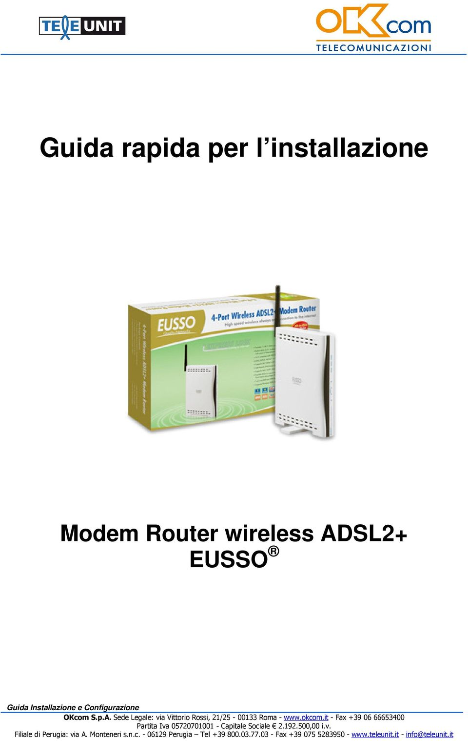 Router wireless ADSL2+