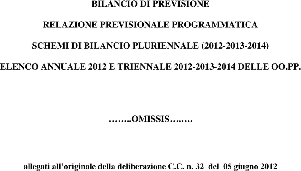 2012 E RIENNALE 2012-2013-2014 DELLE OO.PP...OMISSIS.
