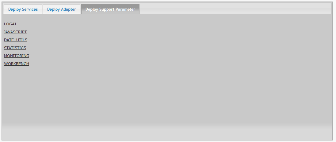 Deploy Support Parameter Deploy Support Parameter comprende le