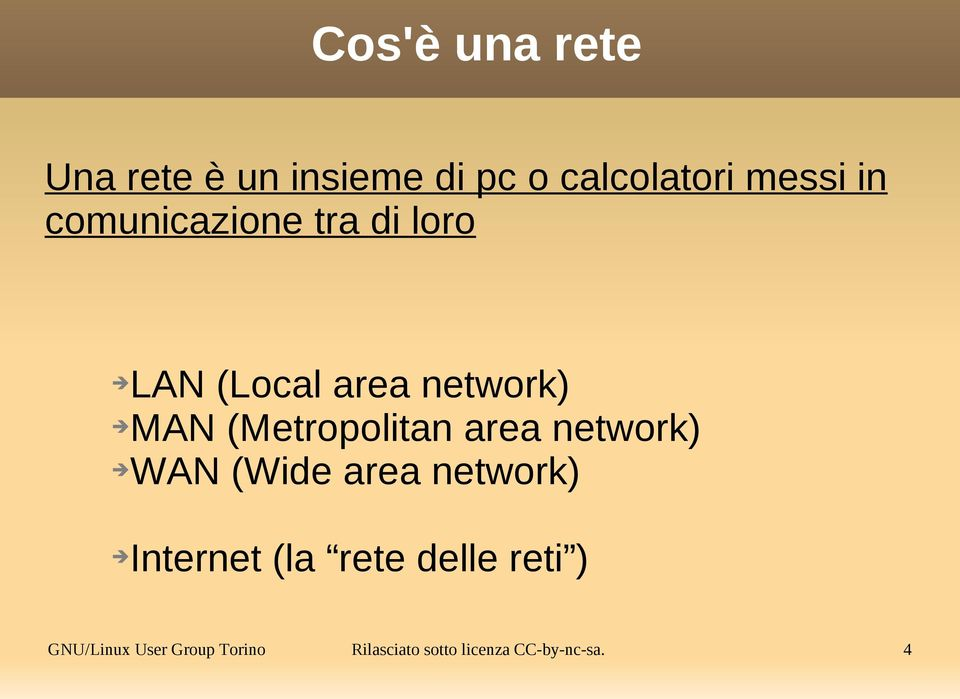 (Metropolitan area network) WAN (Wide area network) Internet (la