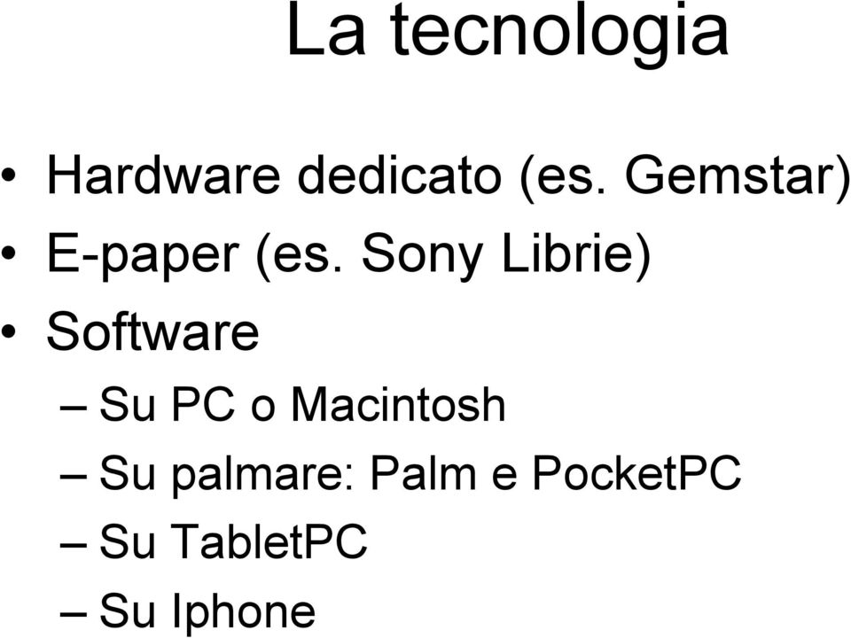 Sony Librie) Software Su PC o
