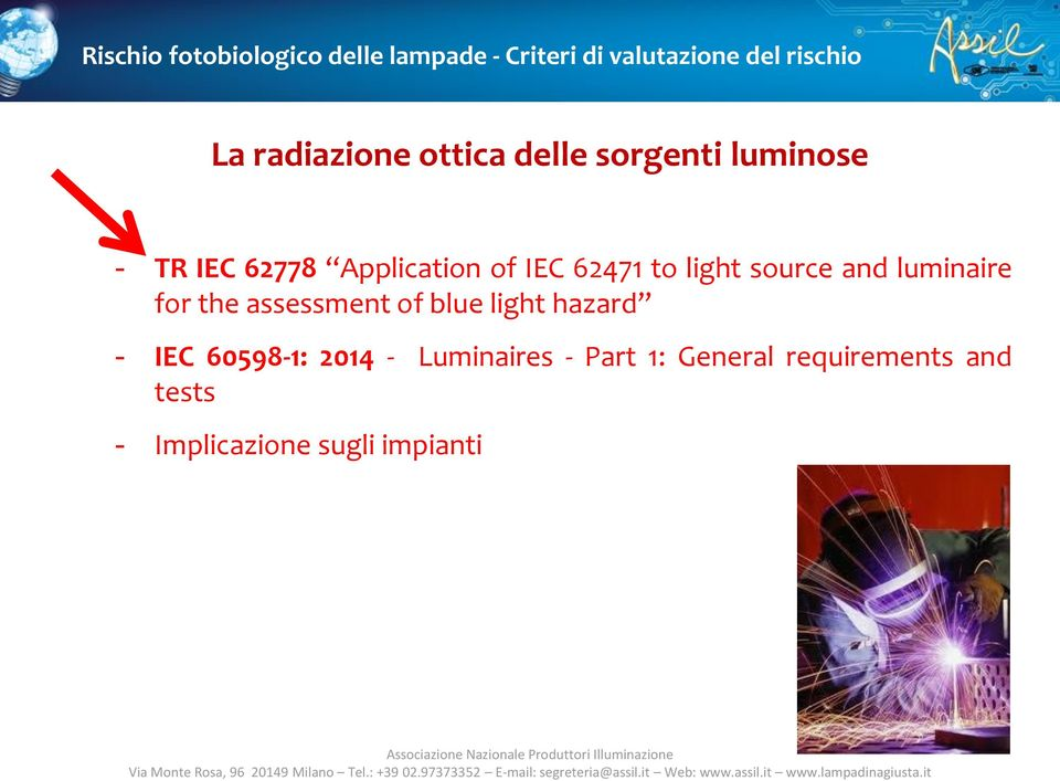 assessment of blue light hazard - IEC 60598-1: 2014 - Luminaires