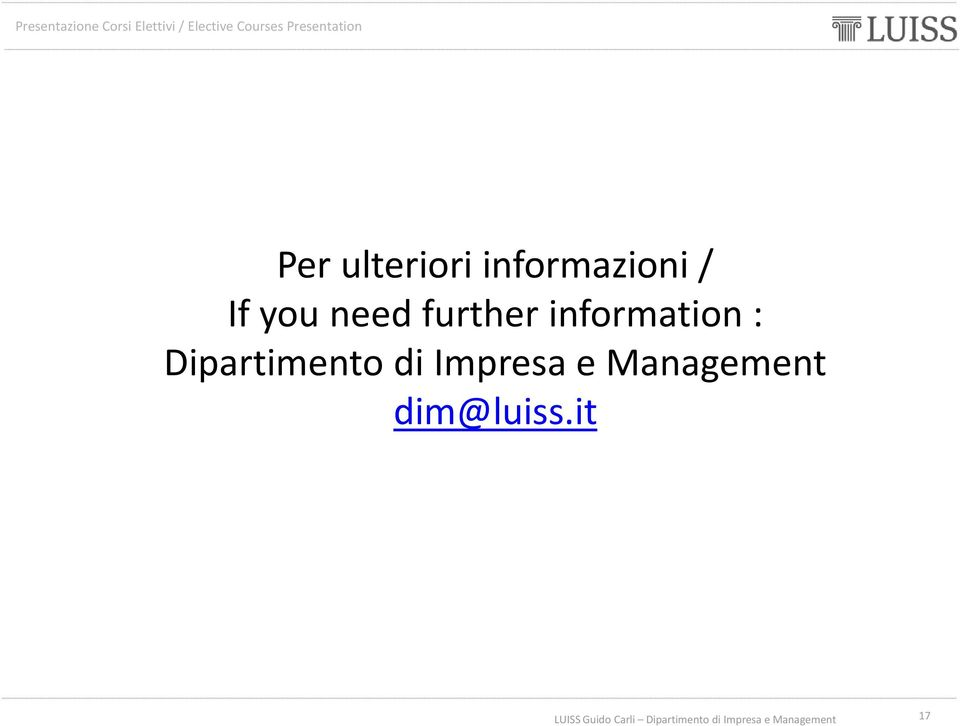 information : Dipartimento