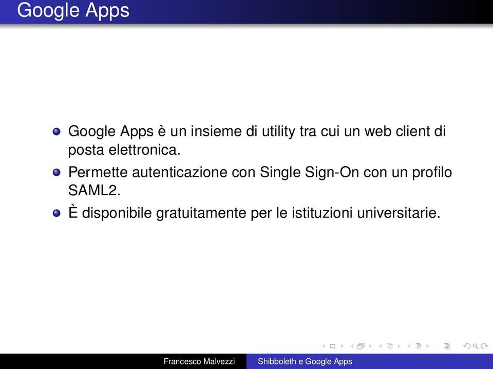 Permette autenticazione con Single Sign-On con un