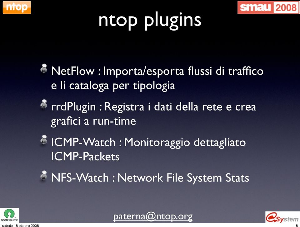 rete e crea grafici a run-time ICMP-Watch : Monitoraggio