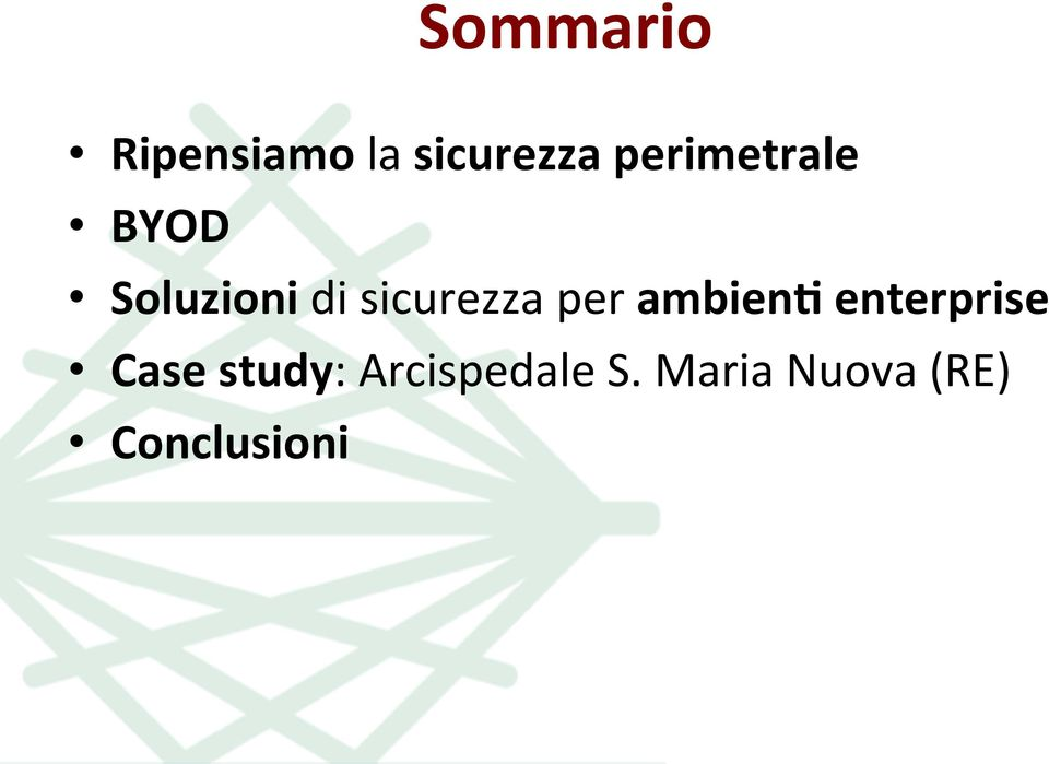 sicurezza per ambien7 enterprise Case