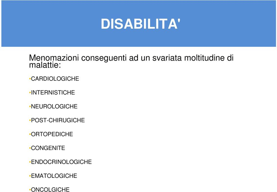 INTERNISTICHE NEUROLOGICHE POST-CHIRUGICHE