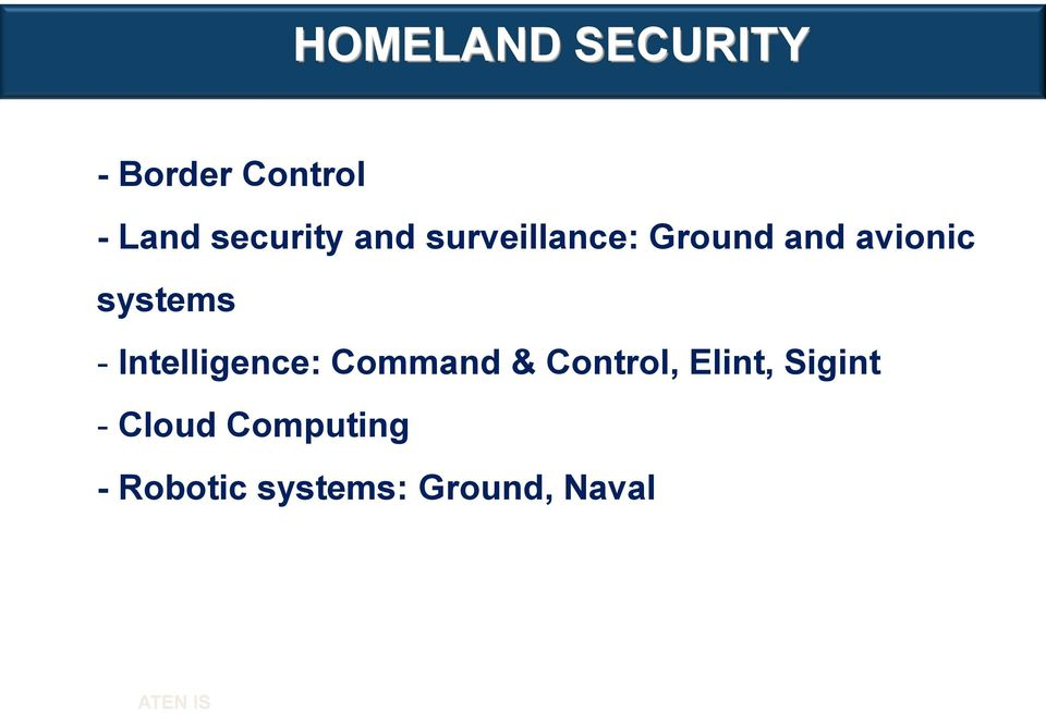 systems - Intelligence: Command & Control,