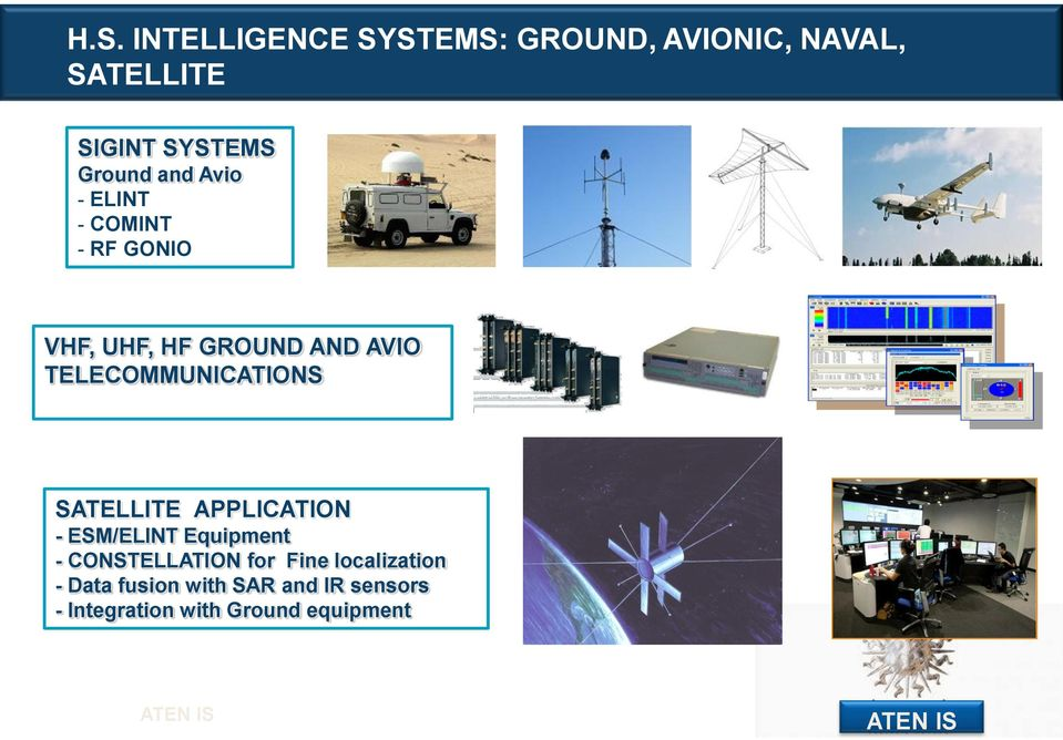 TELECOMMUNICATIONS SATELLITE APPLICATION - ESM/ELINT Equipment - CONSTELLATION