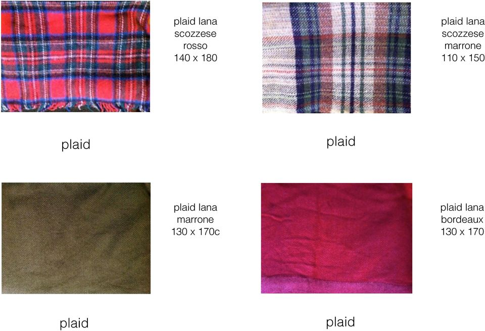 plaid plaid plaid lana marrone 130 x