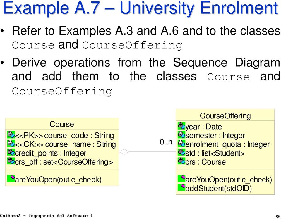 CourseOffering Course <<PK>> course_code : String <<CK>> course_name : String credit_points : Integer crs_off : set<courseoffering>