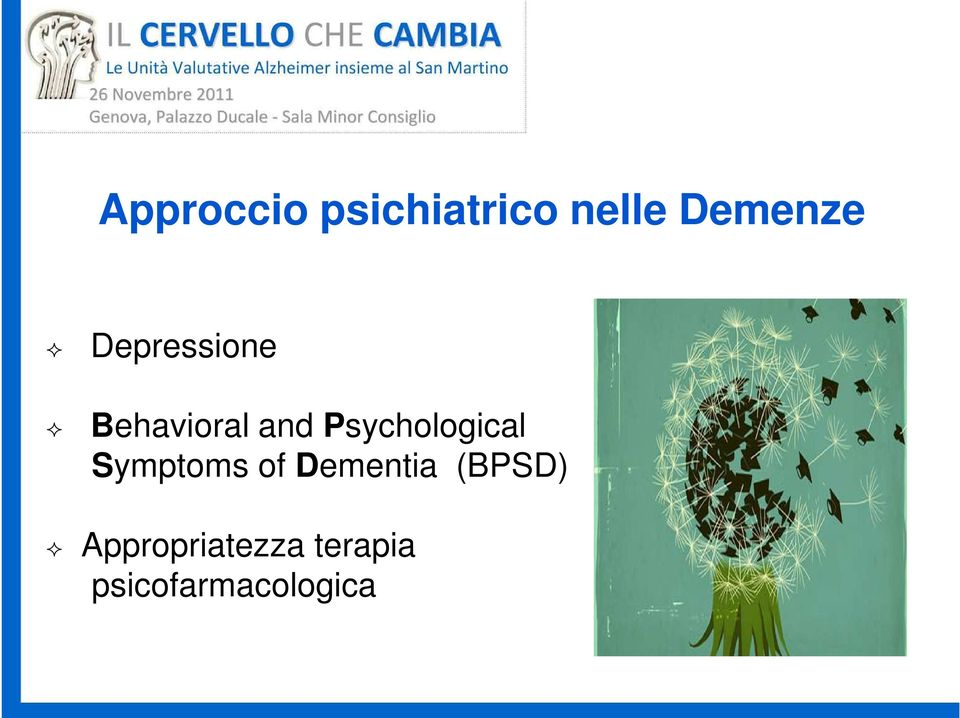 Psychological Symptoms of Dementia
