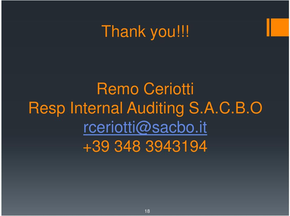 Internal Auditing S.A.C.