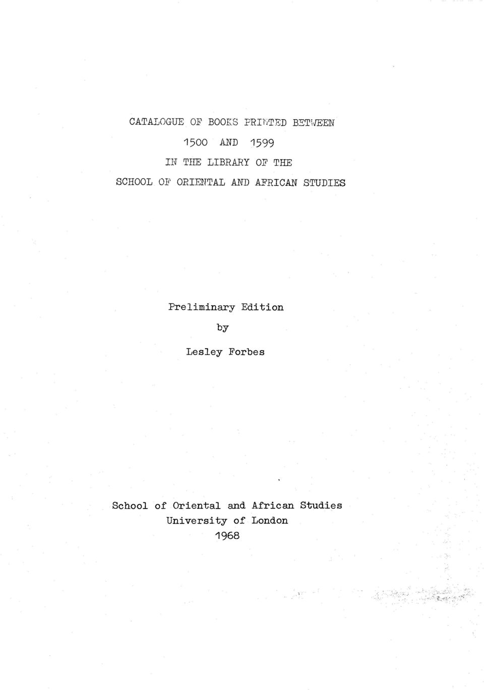 STUDIES Preliminary Edition by Lesley Forbes School