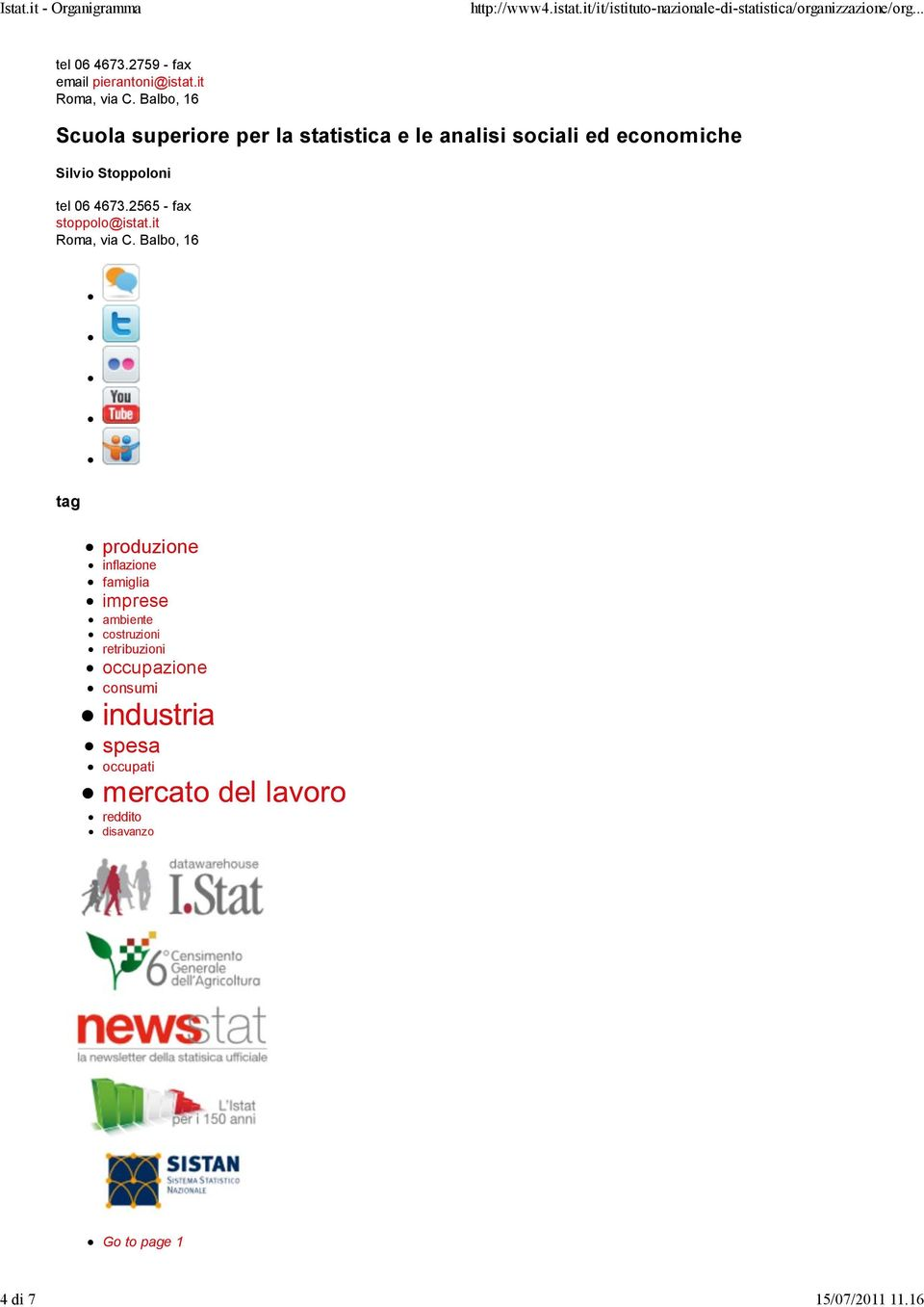 tel 06 4673.2565 - fax stoppolo@istat.it Roma, via C.