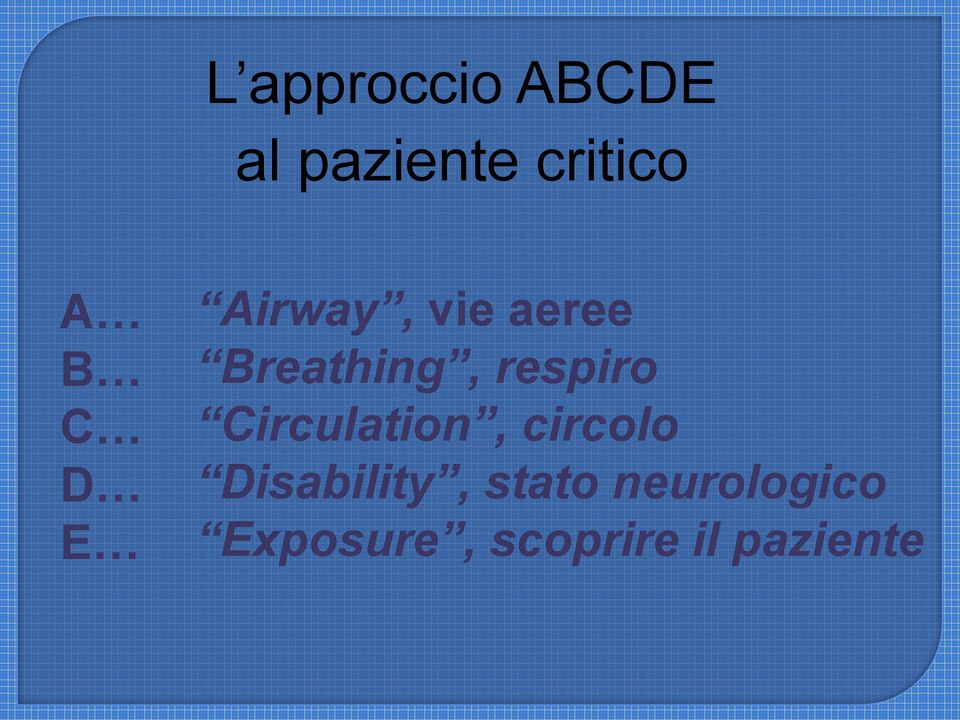 respiro Circulation, circolo Disability,