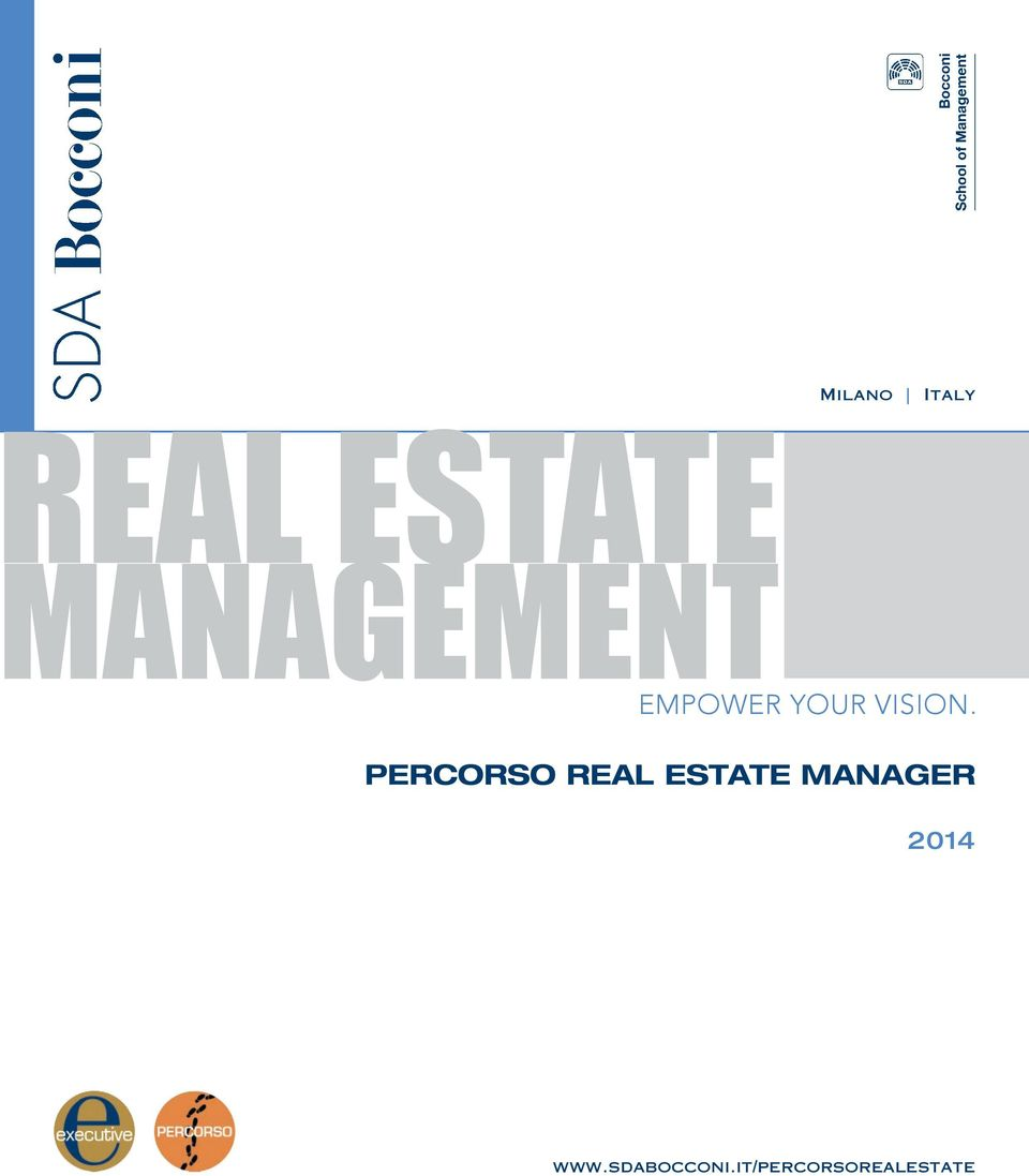 PERCORSO REAL ESTATE MANAGER