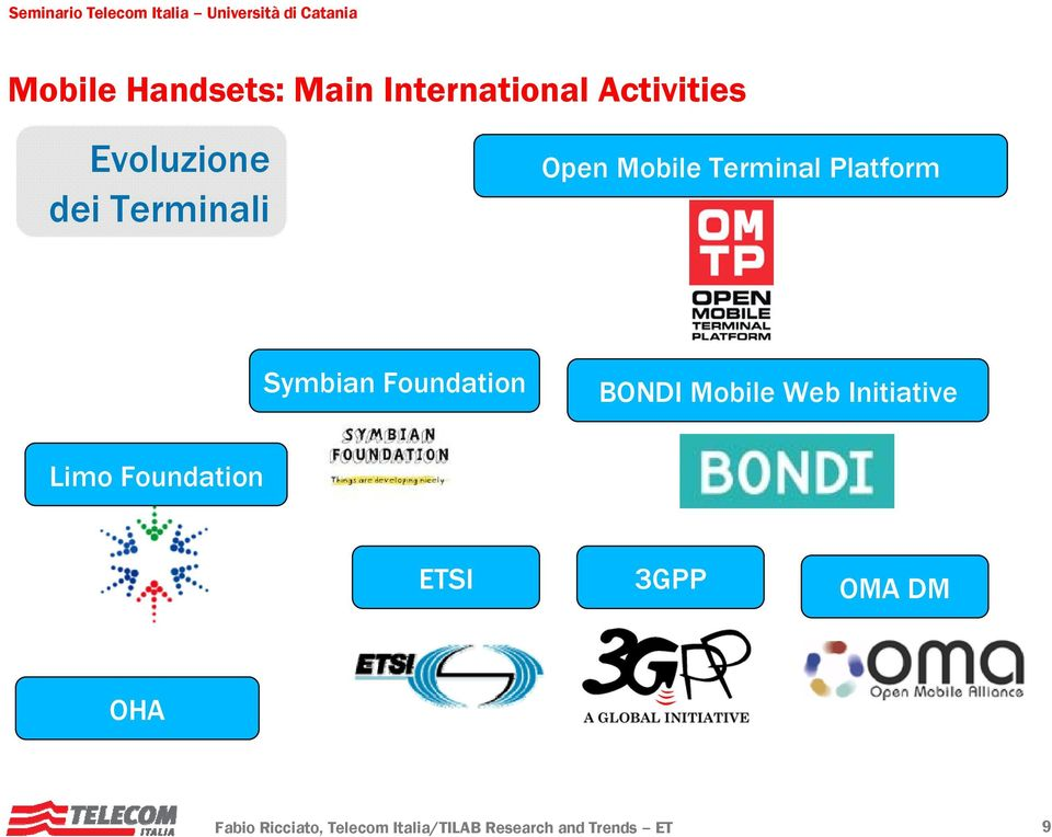 BONDI Mobile Web Initiative Limo Foundation ETSI 3GPP OMA DM