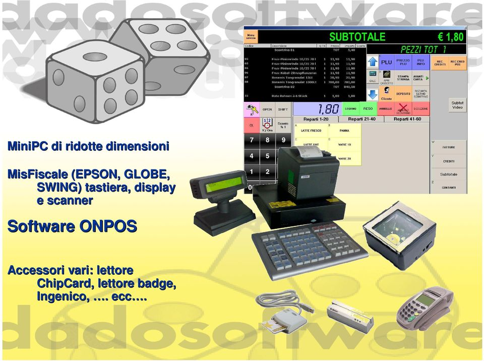 scanner Software ONPOS Accessori vari: