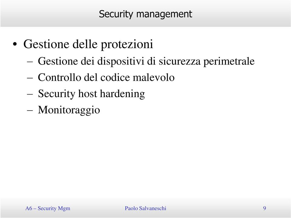 Controllo del codice malevolo Security host