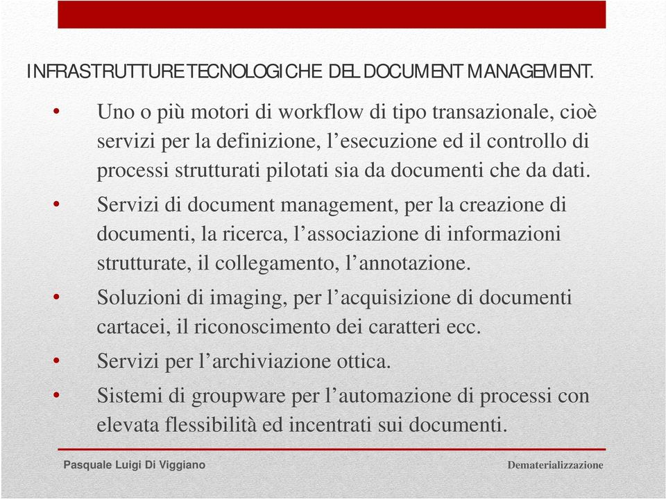 documenti che da dati.
