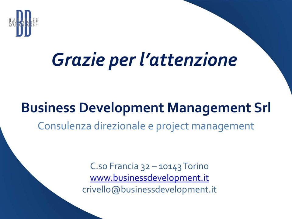 management C.so Francia 32 10143 Torino www.
