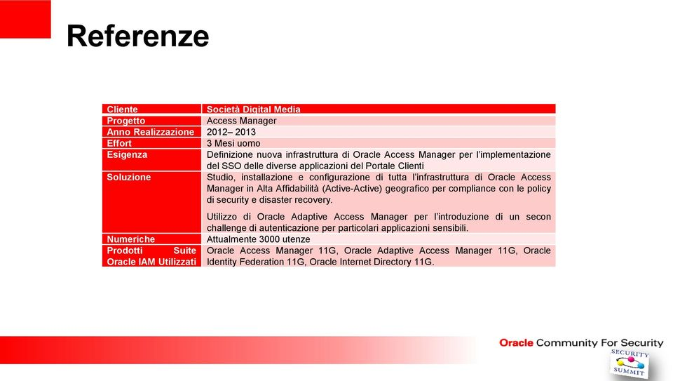 (Active-Active) geografico per compliance con le policy di security e disaster recovery.