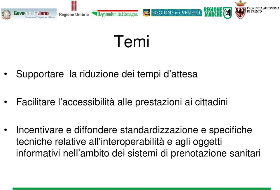 standardizzazione e specifiche tecniche relative all