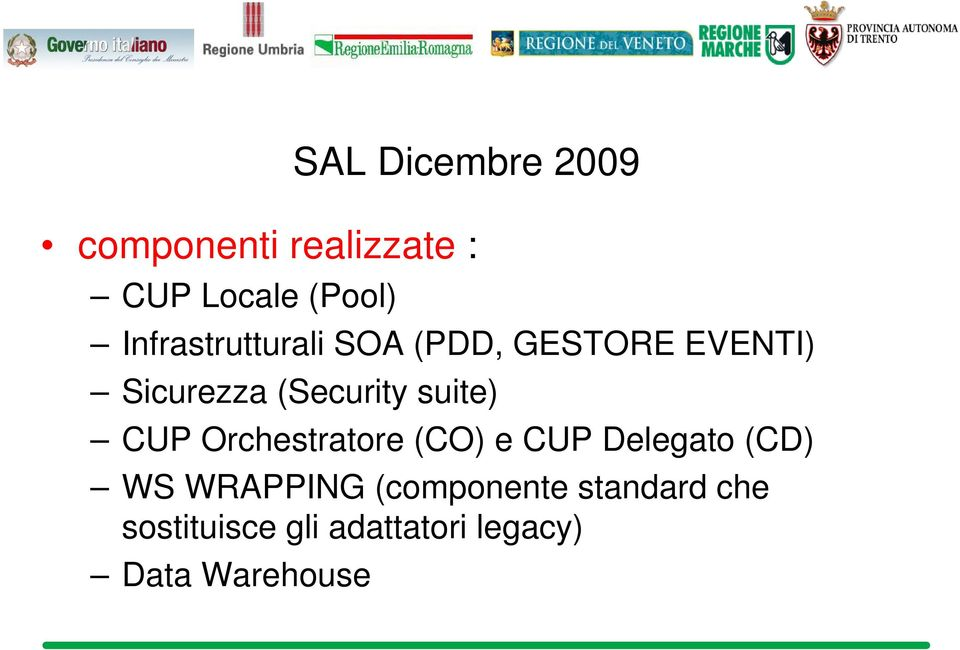 suite) CUP Orchestratore (CO) e CUP Delegato (CD) WS WRAPPING