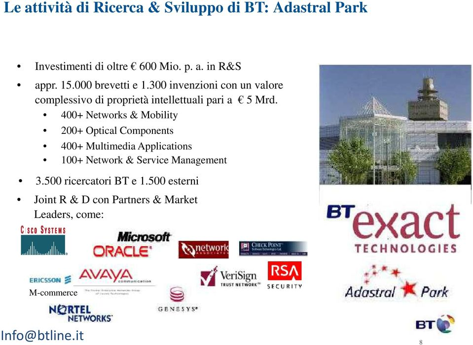 400+ Networks & Mobility 200+ Optical Components 400+ Multimedia Applications 100+ Network & Service