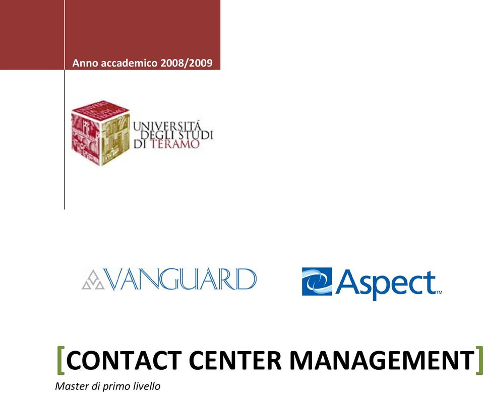 CENTER MANAGEMENT]