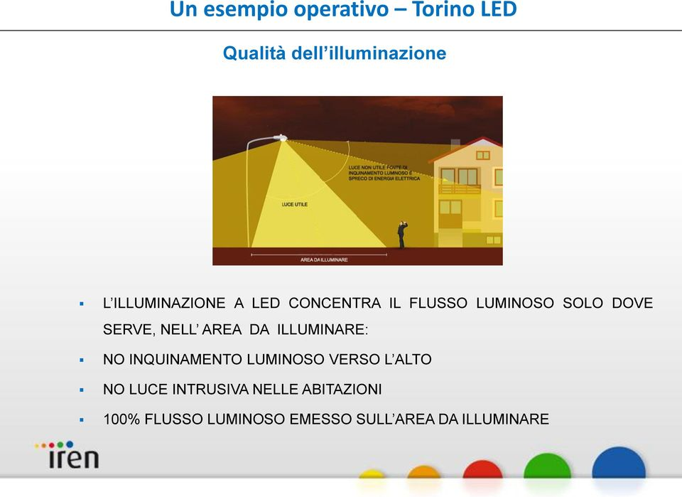 NELL AREA DA ILLUMINARE: NO INQUINAMENTO LUMINOSO VERSO L ALTO NO