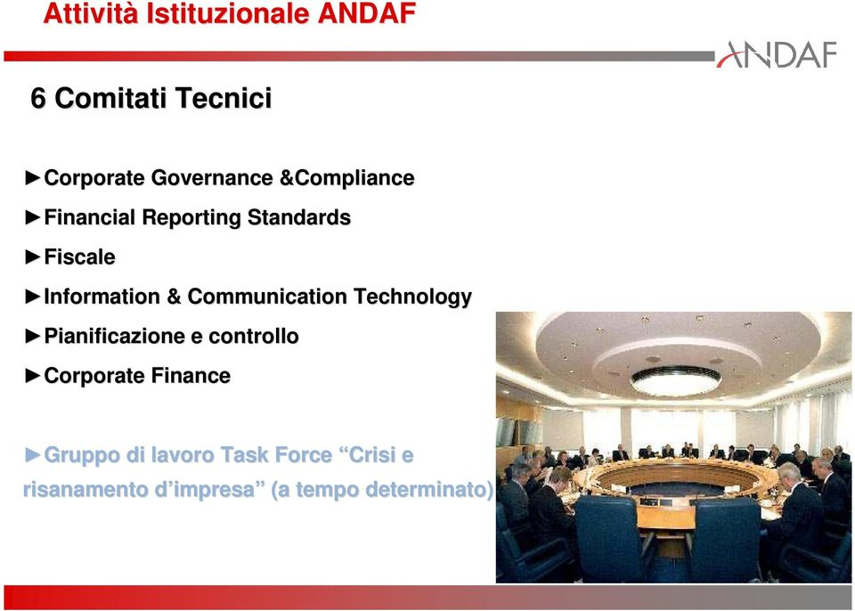 Communication Technology Pianificazione e controllo Corporate Finance