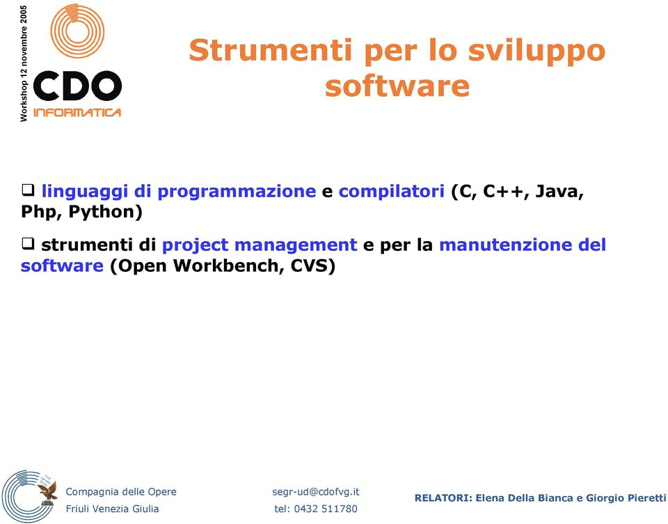 Python) strumenti di project management e per la
