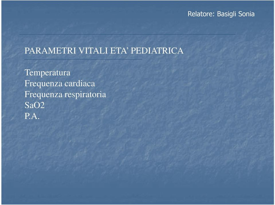 PEDIATRICA Temperatura