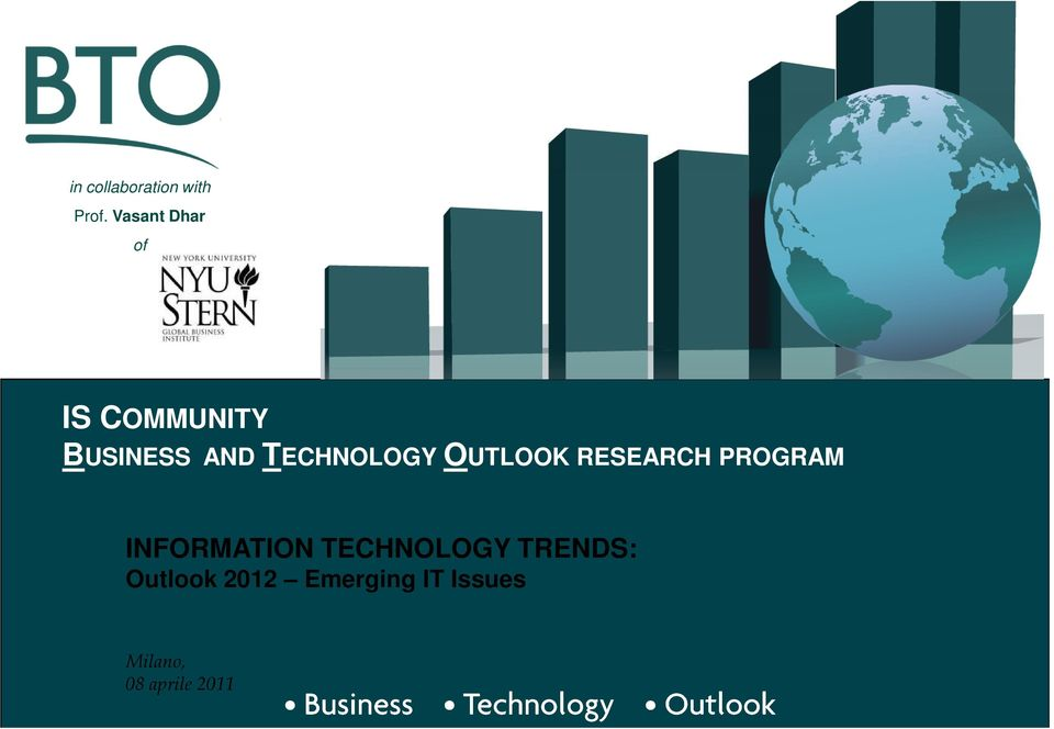 TECHNOLOGY OUTLOOK RESEARCH PROGRAM INFORMATION