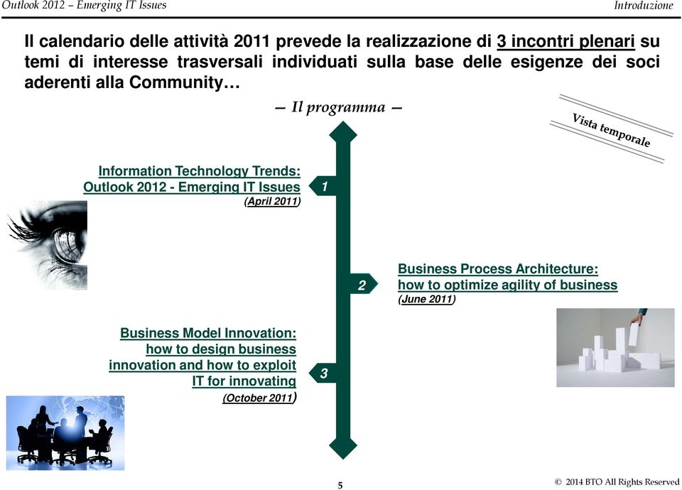 Trends: Outlook 2012 - Emerging IT Issues (April 2011) 1 2 Business Process Architecture: how to optimize agility of