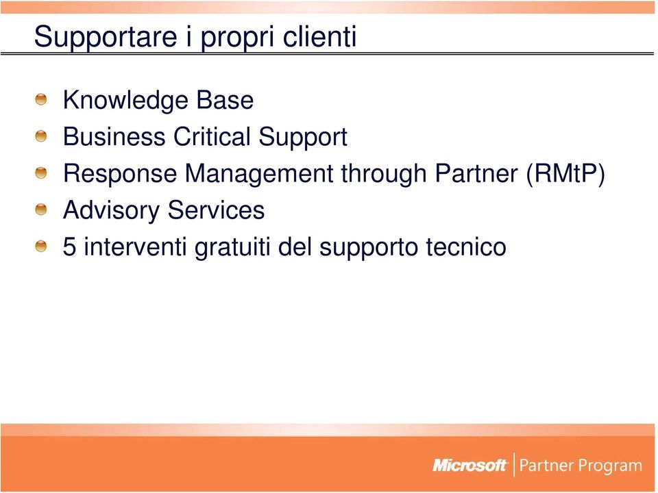 Management through Partner (RMtP) Advisory