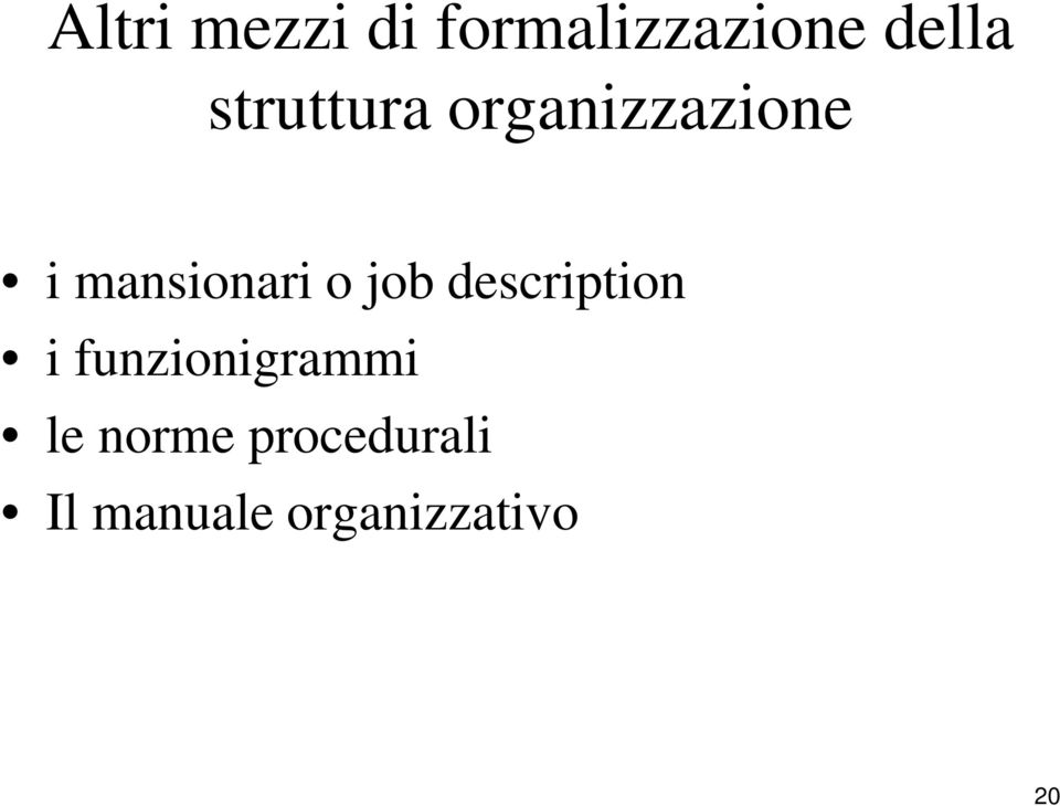 job description i funzionigrammi le