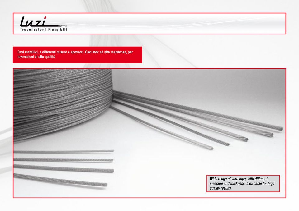 alta qualità Wide range of wire rope, with