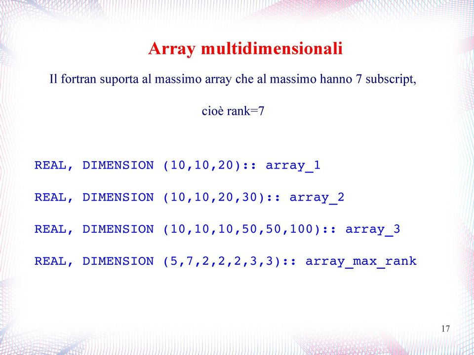 (0,0,0):: array_ REAL, DIMENSION (0,0,0,0):: array_ REAL,