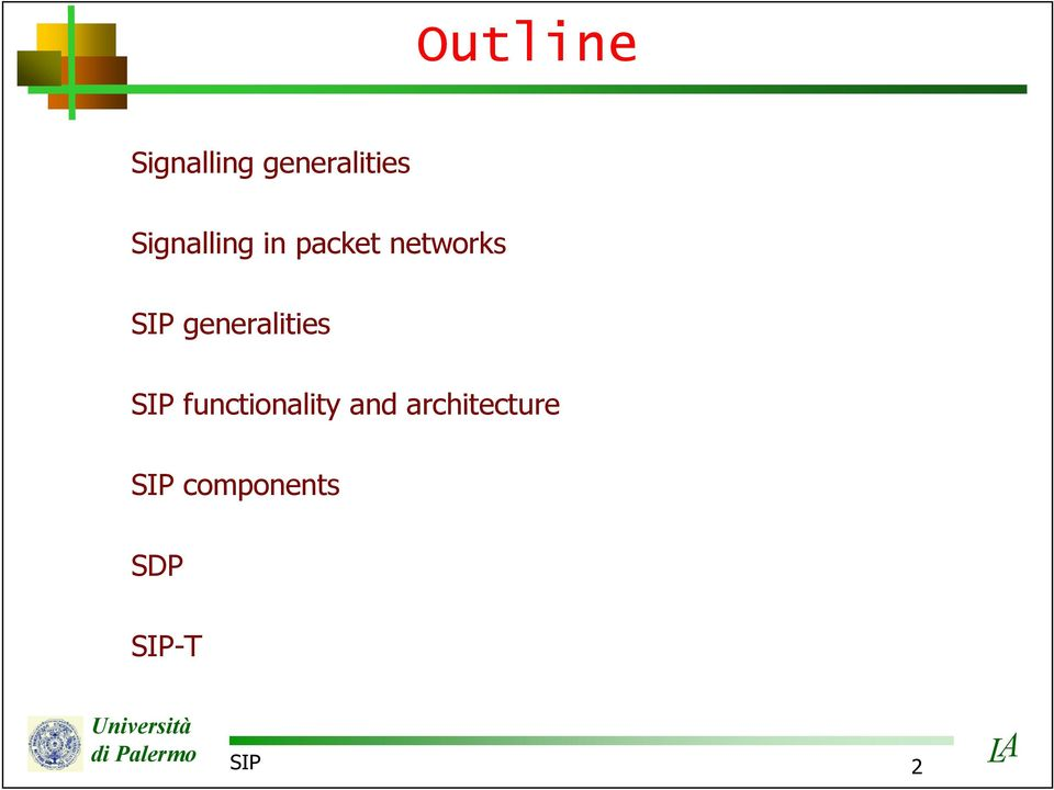 generalities SIP functionality and