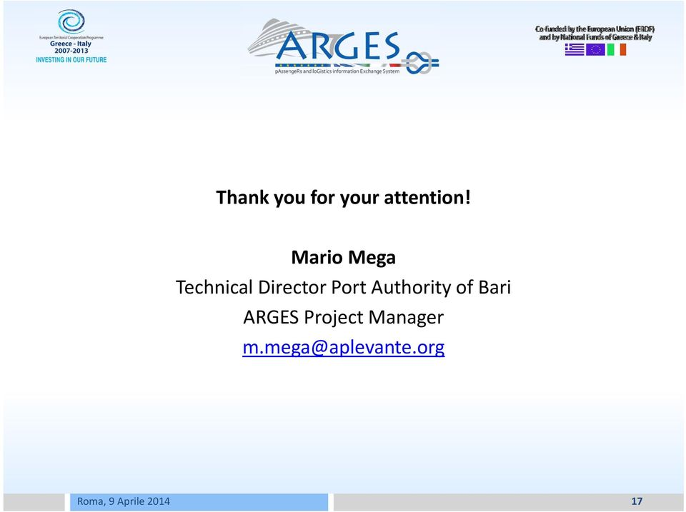 Port Authority of Bari ARGES