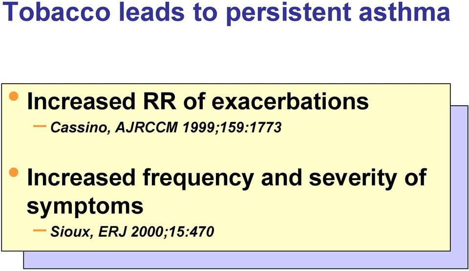 AJRCCM 1999;159:1773 Increased frequency