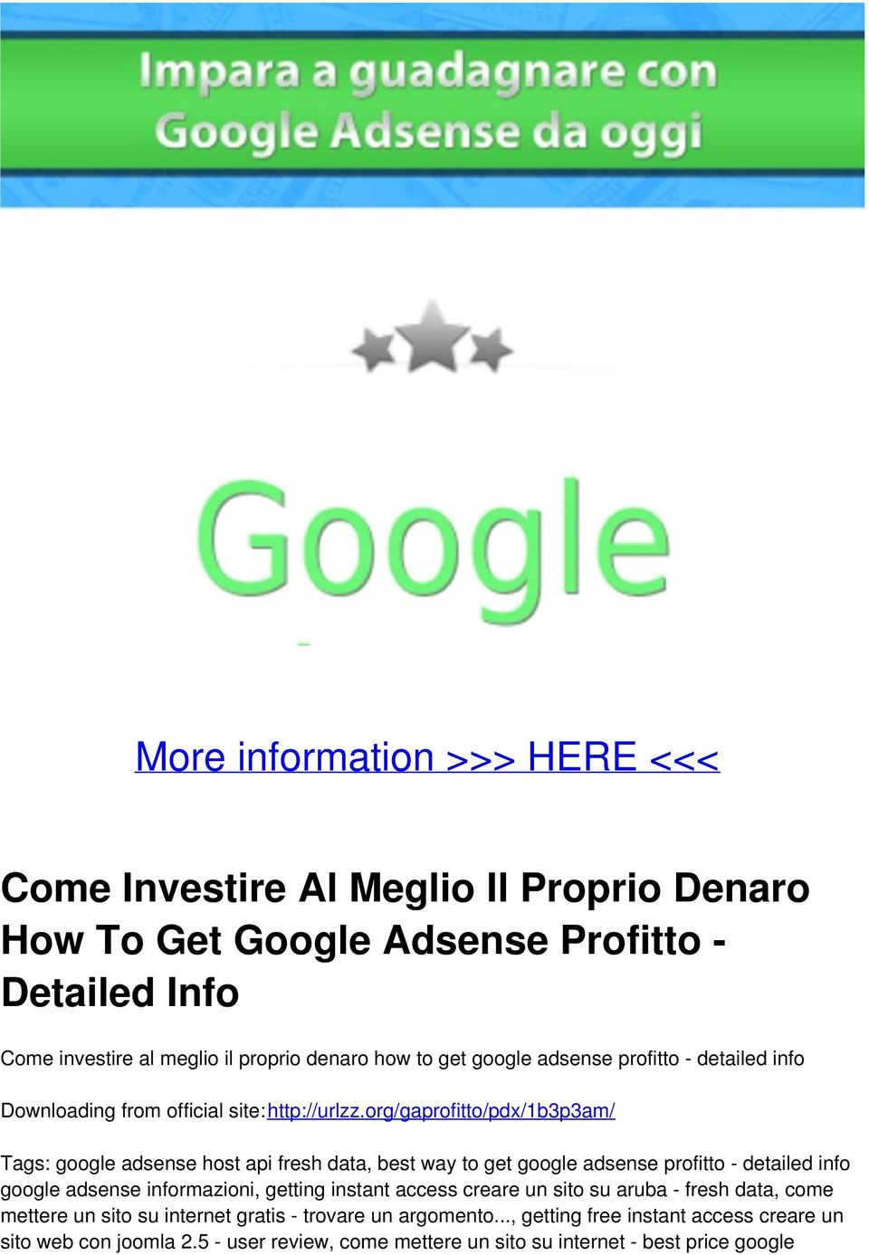 org/gaprofitto/pdx/1b3p3am/ Tags: google adsense host api fresh data, best way to get google adsense profitto - detailed info google adsense informazioni, getting