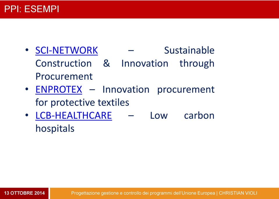 Procurement ENPROTEX Innovation procurement